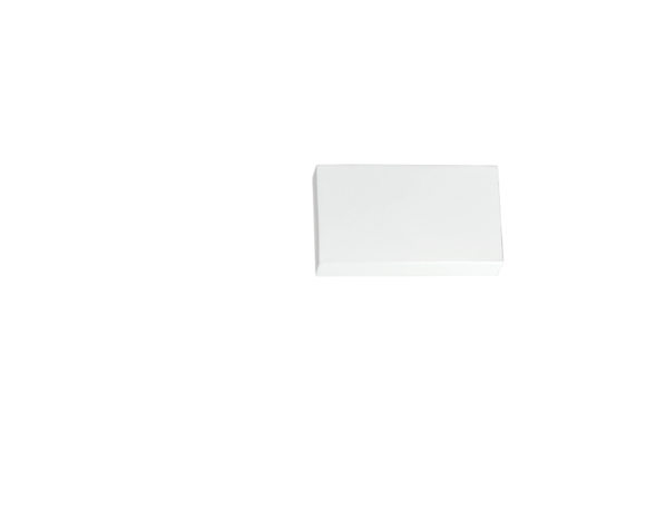 Zakończenie Square Biały Gładkie